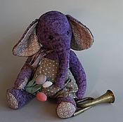 Куклы и игрушки ручной работы. Ярмарка Мастеров - ручная работа Большой плюшевый слон Дамиан. Handmade.