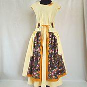 Одежда handmade. Livemaster - original item Linen dress long to the floor. in Bohemian style-ethnic. Handmade.