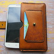 Сумки и аксессуары handmade. Livemaster - original item Leather case for smartphone, phone. Handmade.