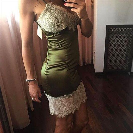 Платья ручной работы. Ярмарка Мастеров - ручная работа. Купить Платье -комбинация Хаки YULIYA LEV. Handmade. Платье