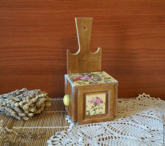 """Кухня ручной работы. Ярмарка Мастеров - ручная работа. Купить Солонка """"Из деревни"""". Handmade. Коричневый, солонка из дерева, для специй"""