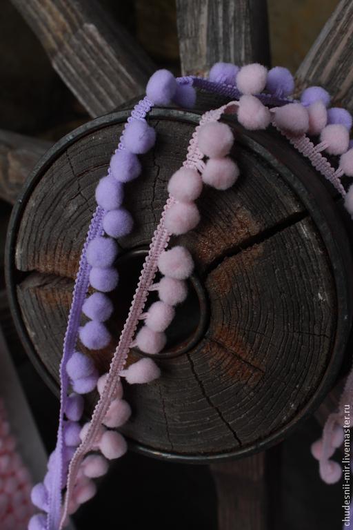 Другие виды рукоделия ручной работы. Ярмарка Мастеров - ручная работа. Купить Тесьма с помпонами. Handmade. Разноцветный, помпоны