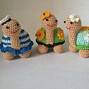 Мягкие игрушки ручной работы. Ярмарка Мастеров - ручная работа Веселые черепашки. Handmade.