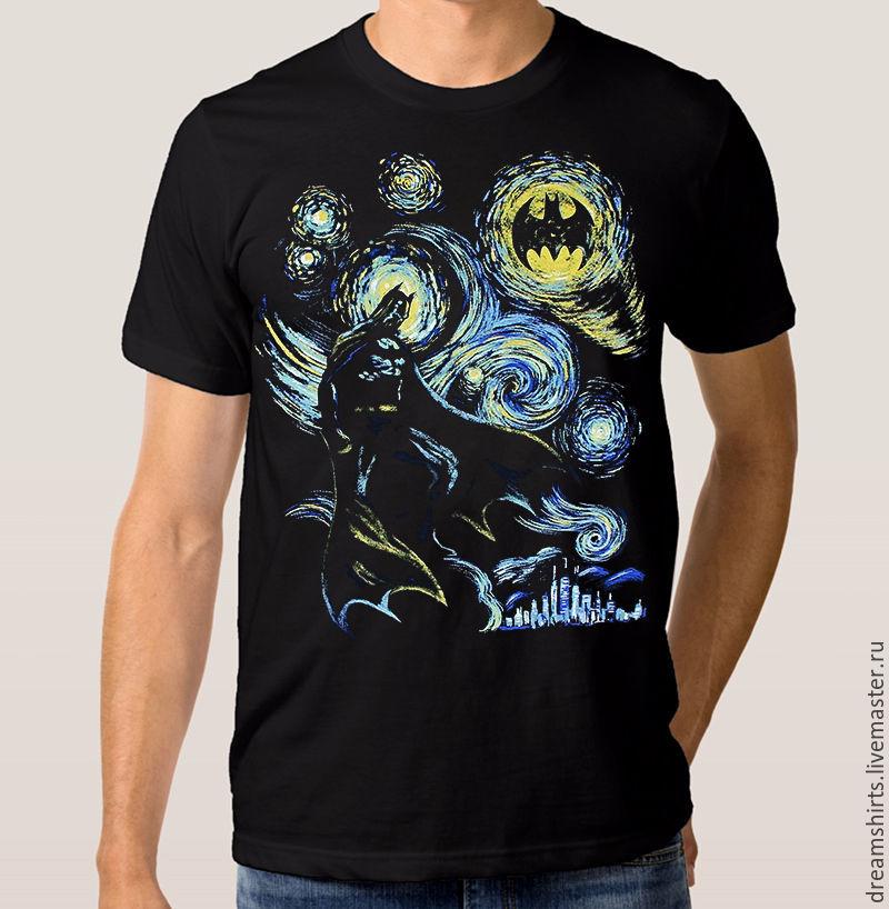 "Футболка с принтом ""Звездная Ночь Бэтмена"", T-shirts, Moscow,  Фото №1"