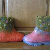Обувь ручной работы. Ярмарка Мастеров - ручная работа Валенки детские для улицы ,ручная работа ,валяние.. Handmade.
