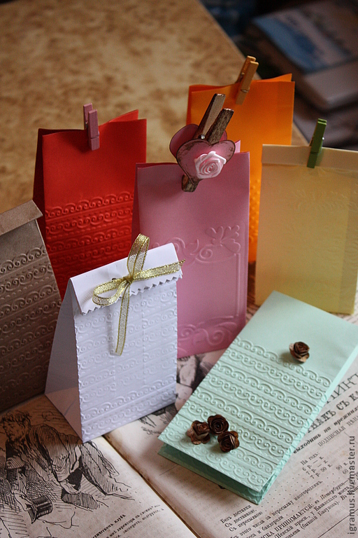 The packaging bag color embossed, Gift wrap, Moscow,  Фото №1