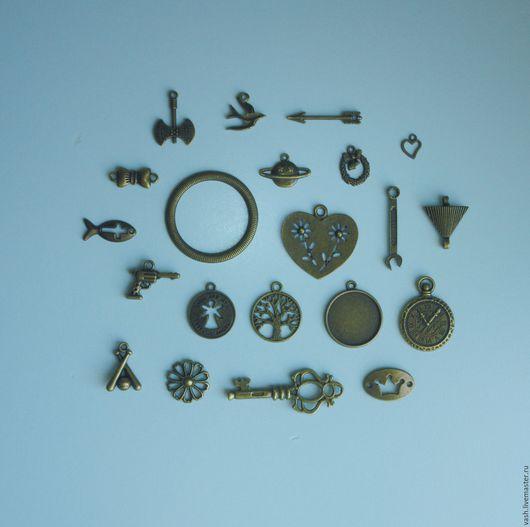 металлическая фурнитура металлические подвески  набор из 21 шт.