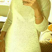 Одежда ручной работы. Ярмарка Мастеров - ручная работа Платье вязанное с украшением в виде кружева.. Handmade.