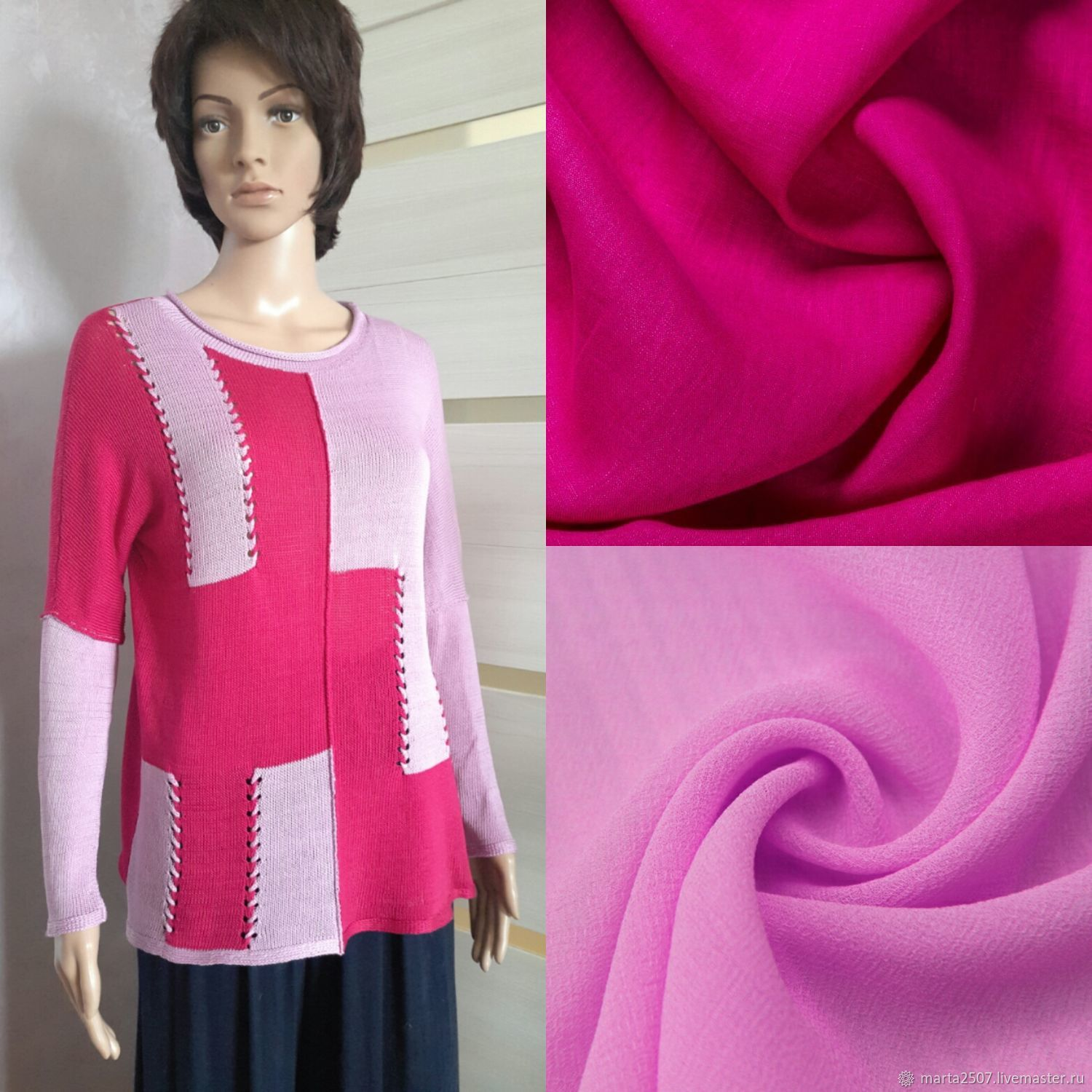 Fuchsia and rose pullover, Pullover Sweaters, Vladimir,  Фото №1