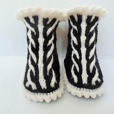 Обувь ручной работы. Ярмарка Мастеров - ручная работа Пинетки полосатики. Handmade.