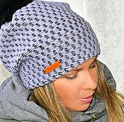 Аксессуары handmade. Livemaster - original item Double winter women`s viving cap with a pompom