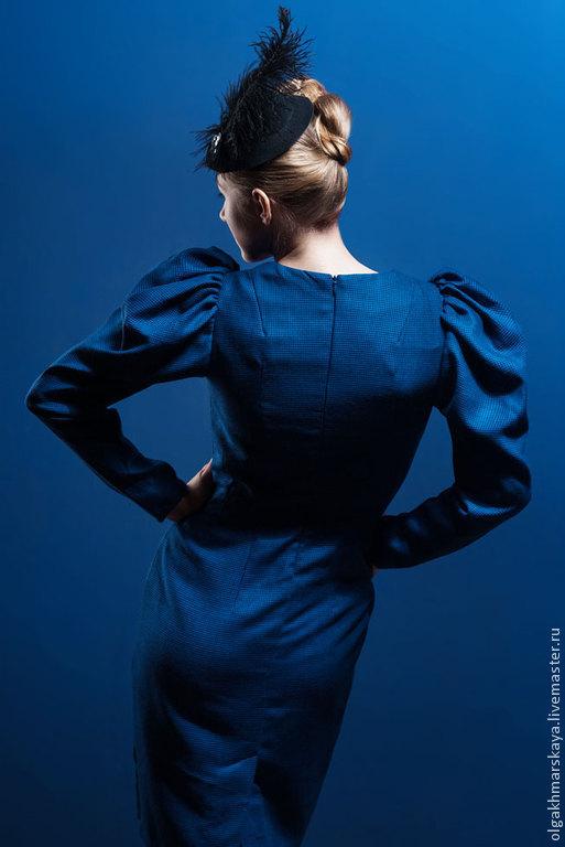 """Платья ручной работы. Ярмарка Мастеров - ручная работа. Купить Платье """"Фонарик"""". Handmade. Тёмно-синий, дизайнерское платье"""
