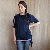 Одежда ручной работы. Ярмарка Мастеров - ручная работа Бохо-туника-платье трикотажное. Handmade.