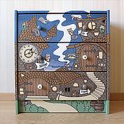 """Для дома и интерьера ручной работы. Ярмарка Мастеров - ручная работа Комод """"Сказочный городок"""". Handmade."""