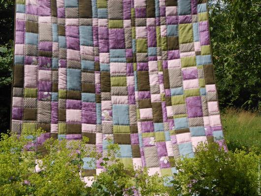 """Текстиль, ковры ручной работы. Ярмарка Мастеров - ручная работа. Купить Лоскутное одеяло """"Разнотравье"""". Handmade. Комбинированный, лоскутное одеяло"""