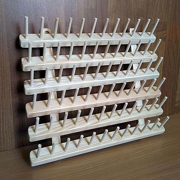 Материалы для творчества ручной работы. Ярмарка Мастеров - ручная работа Стенд для ниток, (диам. ДО 3 см) 72 места (mini). Handmade.
