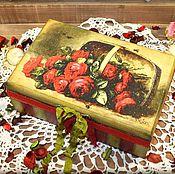 """Для дома и интерьера ручной работы. Ярмарка Мастеров - ручная работа Шкатулка """" The Queen of flowers"""". Handmade."""