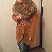 Одежда ручной работы. Ярмарка Мастеров - ручная работа Пальто с драпировкой. Handmade.