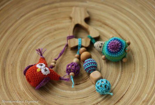 Развивающие игрушки ручной работы. Ярмарка Мастеров - ручная работа. Купить Можжевеловый Грызунок Сова и Черепашка. Handmade. Комбинированный, грызунок