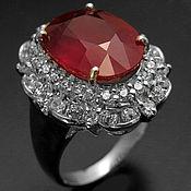 Кольца ручной работы. Ярмарка Мастеров - ручная работа Серебряное кольцо с рубином. Handmade.