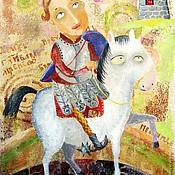 Картины и панно ручной работы. Ярмарка Мастеров - ручная работа Принц на белом коне. Handmade.