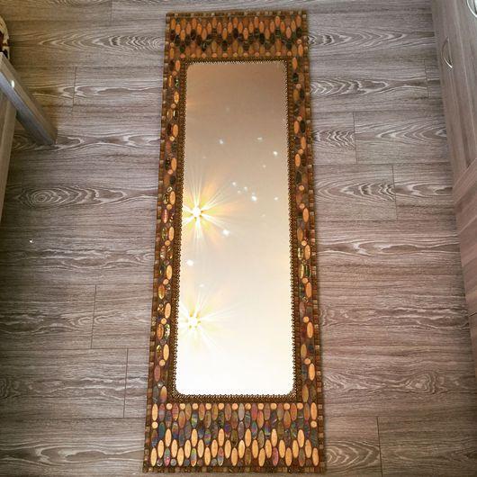 """Зеркала ручной работы. Ярмарка Мастеров - ручная работа. Купить Большое зеркало в мозаике """"Овал"""". Handmade. Зеркало настенное"""