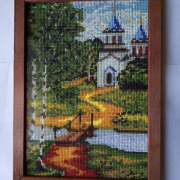 """Картины и панно ручной работы. Ярмарка Мастеров - ручная работа Алмазная мозаика """"Тихая обитель"""". Handmade."""