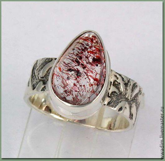 Кольца ручной работы. Ярмарка Мастеров - ручная работа. Купить Кольцо серебряное с кварц с гематитом. Handmade. Комбинированный