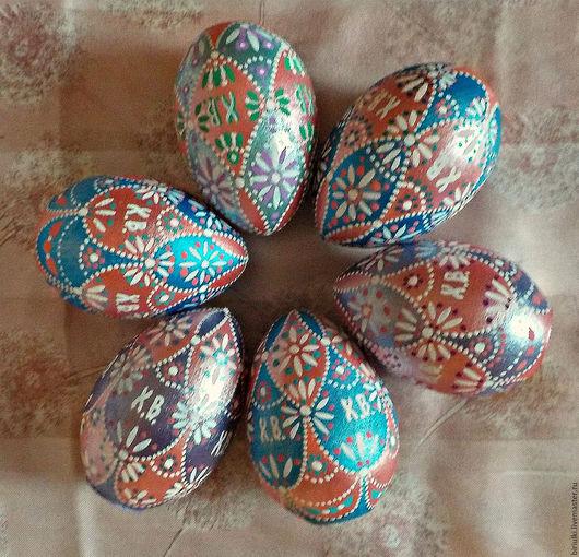 Яйца ручной работы. Ярмарка Мастеров - ручная работа. Купить Разноцветные ромбики. Handmade. Яйцо пасхальное, деревянная заготовка