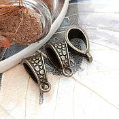 Материалы для творчества handmade. Livemaster - original item Bail for pendants, pendants 14.5x7.5x8.5 mm in BRONZE (art. 2443). Handmade.