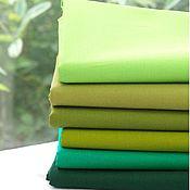 Ткани ручной работы. Ярмарка Мастеров - ручная работа Однотонный Оксфорд, зеленые оттенки. Handmade.