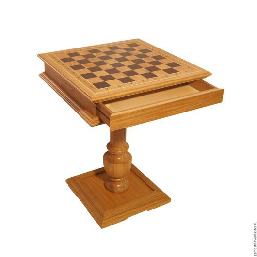 Мебель ручной работы. Ярмарка Мастеров - ручная работа. Купить Шахматный столи из дуба. Handmade. Шахматный стол, мебель из массива