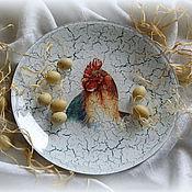 """Подарки к праздникам ручной работы. Ярмарка Мастеров - ручная работа Тарелка """"Петушок"""". Handmade."""