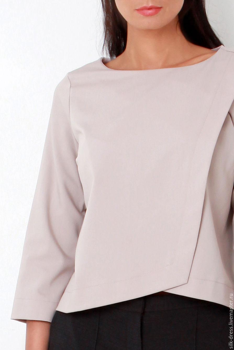 c922d753471 Купить Блузка бежевая с асимметричным кроем · Блузки ручной работы. Блузка  бежевая с асимметричным кроем.