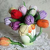 Украшения ручной работы. Ярмарка Мастеров - ручная работа Брошь тюльпан. Handmade.