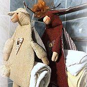 Для дома и интерьера ручной работы. Ярмарка Мастеров - ручная работа КАКАО & КРЕМ-БРЮЛЕ   (хранение полотенец). Handmade.
