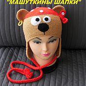 """Аксессуары ручной работы. Ярмарка Мастеров - ручная работа Шапка """"Мишка-пират"""". Handmade."""