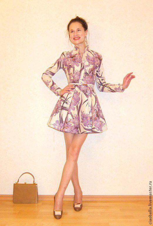 """Верхняя одежда ручной работы. Ярмарка Мастеров - ручная работа. Купить Пальто """"Violetta"""", весна. Handmade. Сиреневый, пальто демисезонное"""