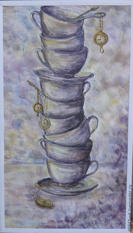 Натюрморт ручной работы. Ярмарка Мастеров - ручная работа. Купить Вечерний чай - живопись в подарок. Handmade. Картина для интерьера