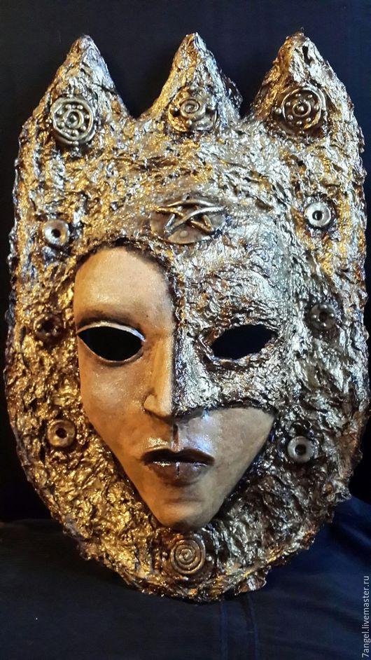 Интерьерные  маски ручной работы. Ярмарка Мастеров - ручная работа. Купить Авторская интерьерная маска Король Пентаклей. Handmade. Золотой