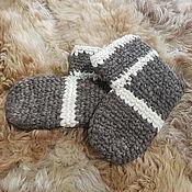 handmade. Livemaster - original item Woolen hand knitted slippers. Handmade.