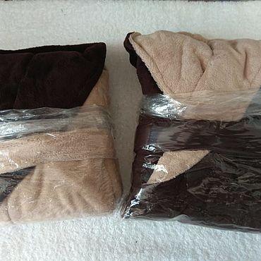 Одежда ручной работы. Ярмарка Мастеров - ручная работа Халат на 8-10 лет Велюр-махра. Handmade.