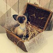 Куклы и игрушки ручной работы. Ярмарка Мастеров - ручная работа котик Сиамский. Handmade.