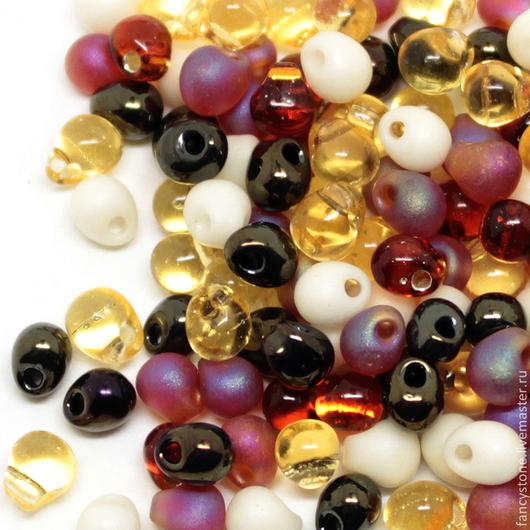 Для украшений ручной работы. Ярмарка Мастеров - ручная работа. Купить MIYUKI drops 3,4mm Mix Wheatberry (MIX04) Миюки капельки 10гр.. Handmade.