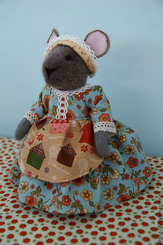 Игрушки животные, ручной работы. Ярмарка Мастеров - ручная работа. Купить Мышка-домовушка. Handmade. Разноцветный, мышонок, кукла интерьерная