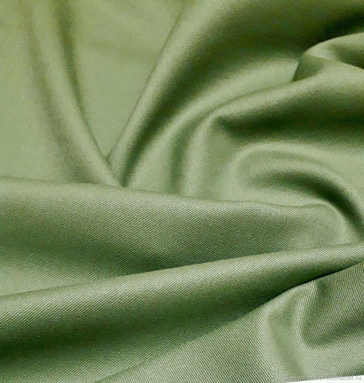 Костюмная шерсть 100%, светло-зелёная, Ткани, Королев,  Фото №1