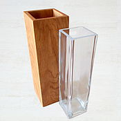 Для дома и интерьера handmade. Livemaster - original item Vase made of oak (80х80х240mm). Handmade.