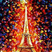 Картины и панно ручной работы. Ярмарка Мастеров - ручная работа Вечерний Париж. Handmade.