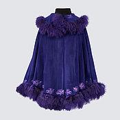 Одежда handmade. Livemaster - original item Action!!! Woolen Cape poncho with fur Lama. Handmade.