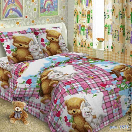 Детская ручной работы. Ярмарка Мастеров - ручная работа. Купить Детский постельный комплект из поплина. Handmade. Кремовый